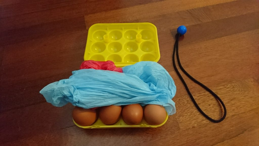 bawa telur ke gunung