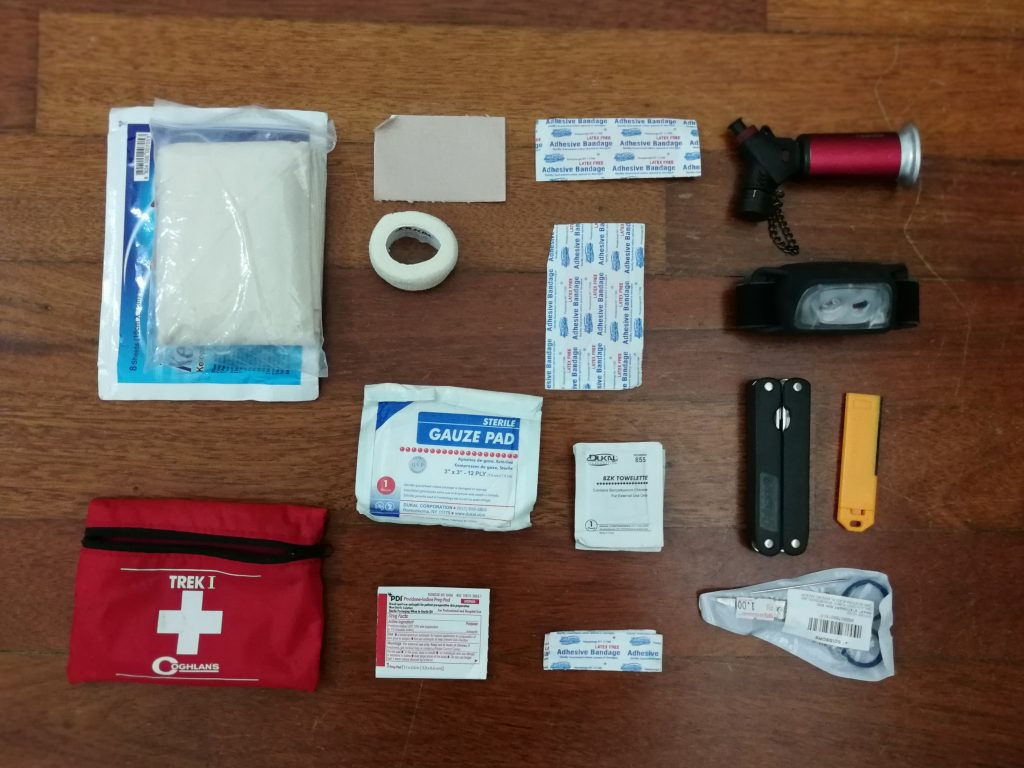 first aid kit hiking